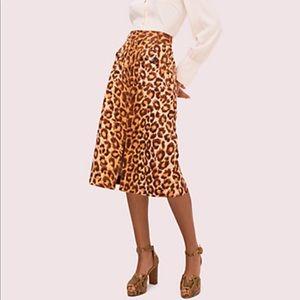 NWT - Kate Spade Panthera A-Line Skirt